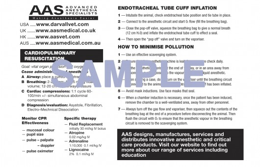 AAS CPR and Anaesthesia Check List sample